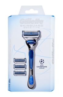 Gillette Skinguard Sensitive Champions League Maszynka do golenia 1szt zestaw upominkowy