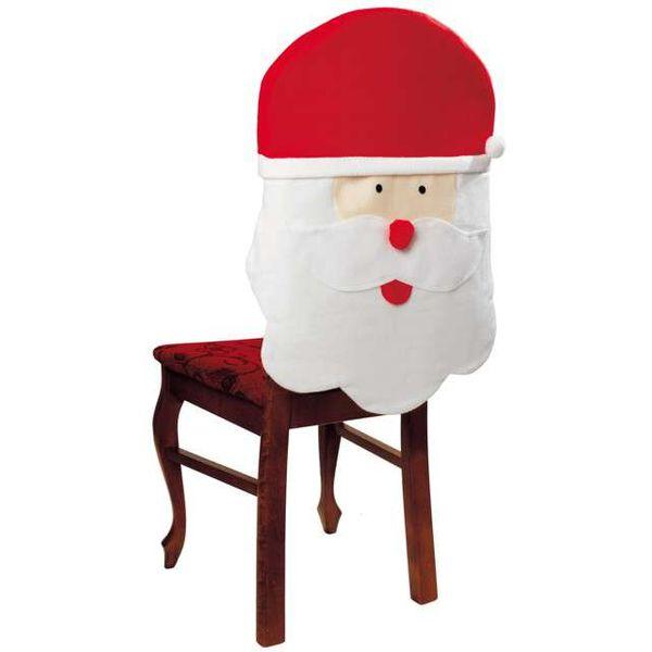 wigilijny POKROWIEC na krzesła CZAPKA MIKOŁAJA zdjęcie 1