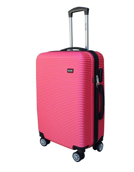 WALIZKA walizki kółka torba samolot ZESTAW M + L RÓŻOWA 1356 + 1357 zdjęcie 6