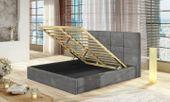 Łóżko tapicerowane z pojemnikiem na pościel 140X200 Korfu