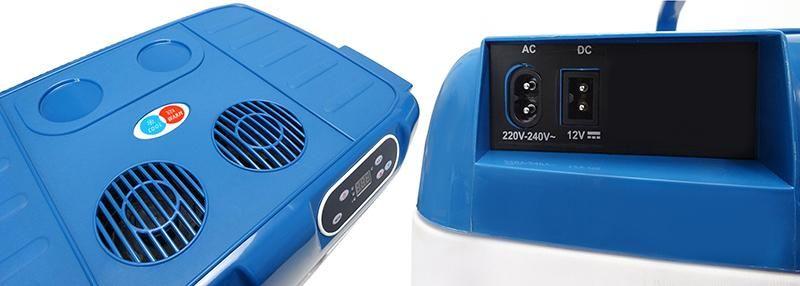 Lodówka turystyczna 40L 12V/230V LCD, termostat, kółka zdjęcie 6