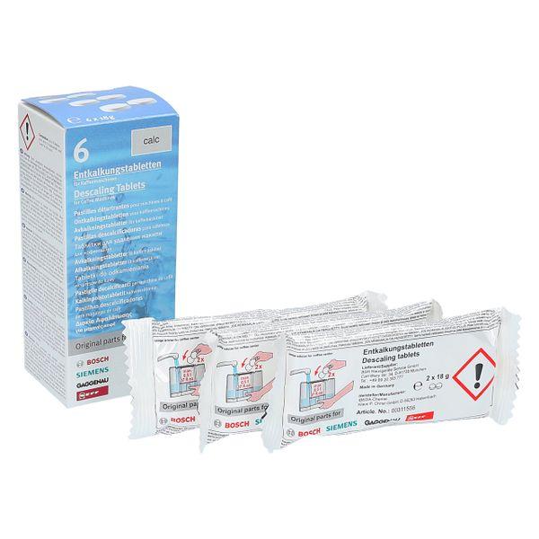 Tabletki odkamieniające Bosch Siemens TZ60002 6szt zdjęcie 1