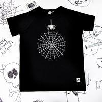 Rockowa czarna koszulka dziecięca Spider`s Web Mia Rock 104/110