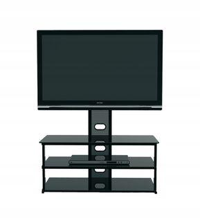 4World Style Stolik pod TV z uchwytem TV, czarny