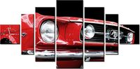 100cm 200cm ZEGAR 7 elem Red Mustang Y ścienny obraz druk cyfrowy