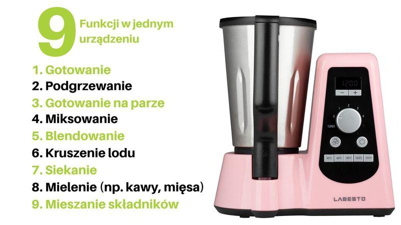 Robot Wielofunkcyjny LABESTO z funkcją gotowania na Arena.pl