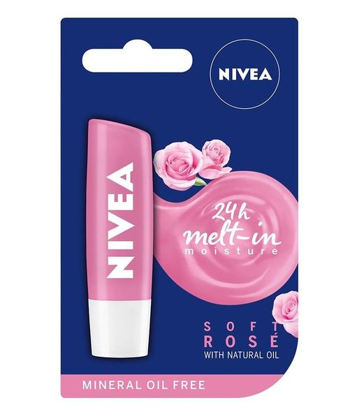 Nivea Soft Rose (Różana) Pielęgnacyjna Pomadka do Ust 5,5ml - Soft Rose na Arena.pl