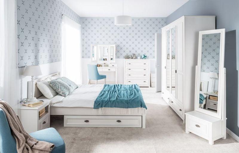 Toaletka Biała Do Sypialni Z Szufladami Madison 23