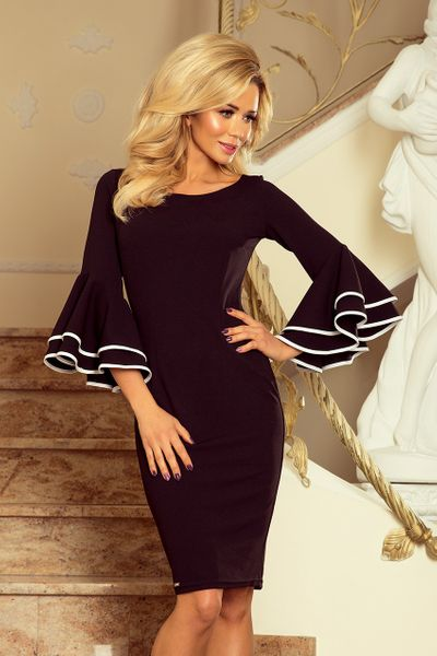 a6dcb4e88104 188 2 CARMEN sukienka z hiszpańskimi rękawkami CZARNA Rozmiar - XL zdjęcie 1  ...