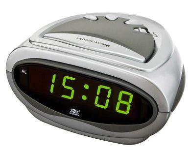 XONIX 618 Budzik zasilany sieciowo, automatyczna funkcja dobudzania, alarm, szerokość ok. 11 cm
