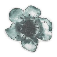 Kocyk Bambusowy Embedding Bloom Petrol Elodie Details
