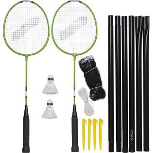 Zestaw do Badmintona Stiga Garden GS Set 2 rakiety 2 lotki siatka ze słupkami