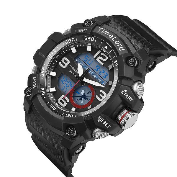 6579c60e4cbd8c Najmodniejszy Zegarek Męski Elektroniczny Biały S-SHOCK Dwa Czasy zdjęcie 10
