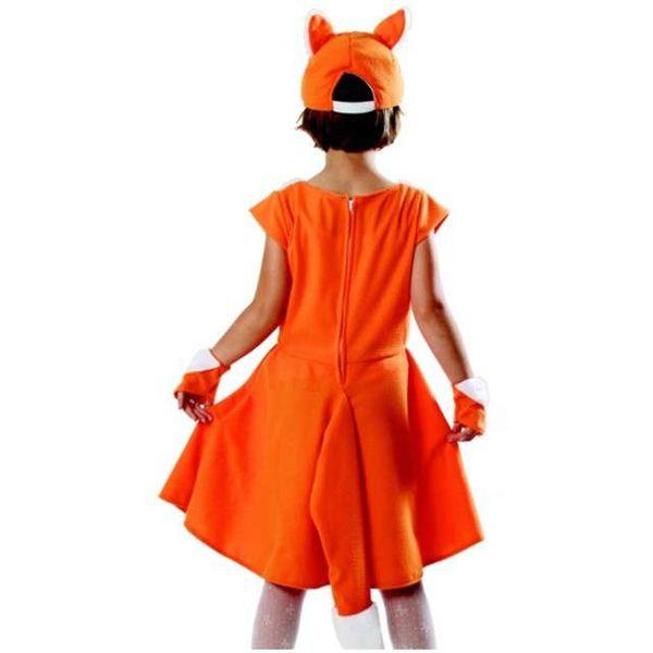 STRÓJ LIS rudy lisek sukienka LISICZKA bal 134/140 zdjęcie 2