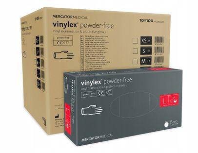 Rękawice winylowe vinylex powder-free L karton 10 x 100