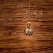Złoty Naszyjnik Celebrytka Dwustronne Serce Grawer zdjęcie 3