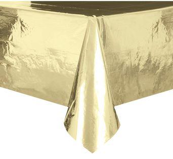Obrus foliowy złoty metaliczny 137x274 cm Urodziny