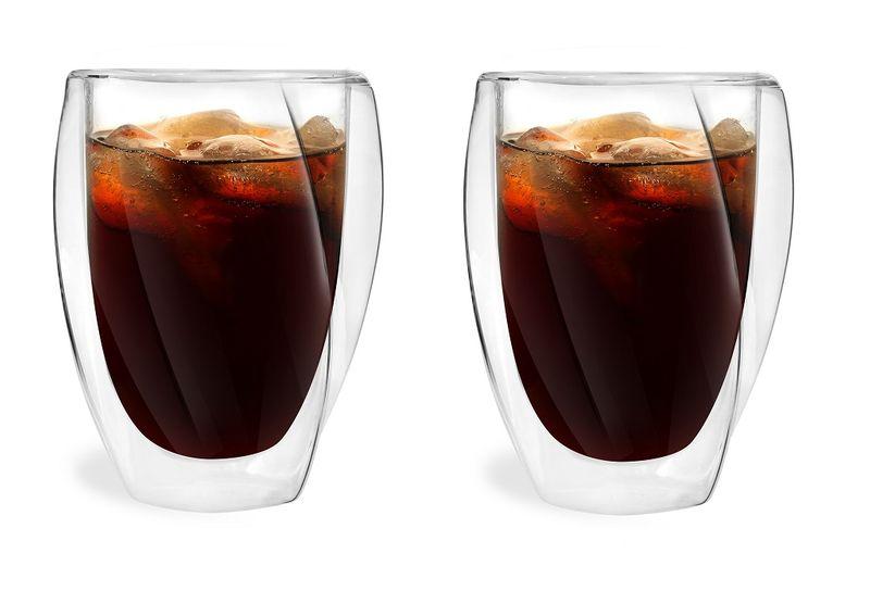 Szklanki Termiczne z Podwójną Ścianką do Kawy Latte Herbaty 300ml 6szt zdjęcie 4