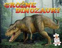 Groźne dinozaury książka puzzle do układania 175el