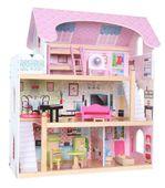 Domek dla lalek – drewniany: Rezydencja Bajkowa