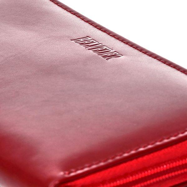 Czerwony damski portfel skóra naturalna BELVEDER w pudełku zdjęcie 9