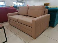 Sofa Rozkładana Mała Kanapa do salonu Avanti 170 cm eko skóra beżowa