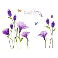 Naklejki na ścianę ścienne Fioletowe Kwiaty WS-0156