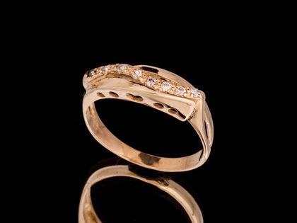 P529 Złoty Pierścionek z cyrkoniami 333
