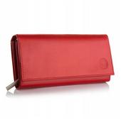 BETLEWSKI damski portfel skórzany czerwony
