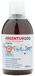 Argentum 200 Srebro koloidalne tonik 100PPM 500ml Aura Herbals