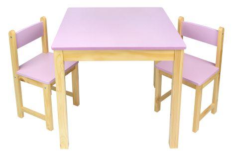 Stolik z krzesełkami różowy