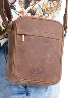 Listonoszka męska, torba miejska Always Wild, skóra naturalna