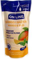 On Line Probiotic Formula - Kremowe Mydło W Płynie  ( Mango&bazylia ) - 500Ml (Zapas)