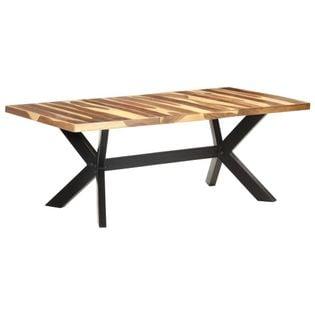 Stół, 200x100x75 cm, lite drewno stylizowane na sheesham