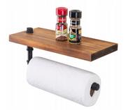 Uchwyt wieszak na ręczniki papierowe z półką loft