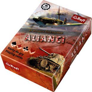 Karty do gry II Wojna Światowa Alianci TREFL