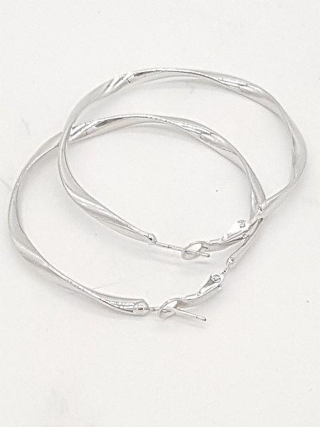 Kolczyki srebrne wiszące koła zdjęcie 4