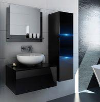 Meble łazienkowe szafki czarny połysk zestaw