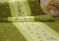 Pościel z kory 180x200 wzór zielone stokrotki