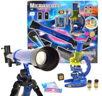 Zestaw Edukacyjny Teleskop Astronomiczny Luneta i Mikroskop U04