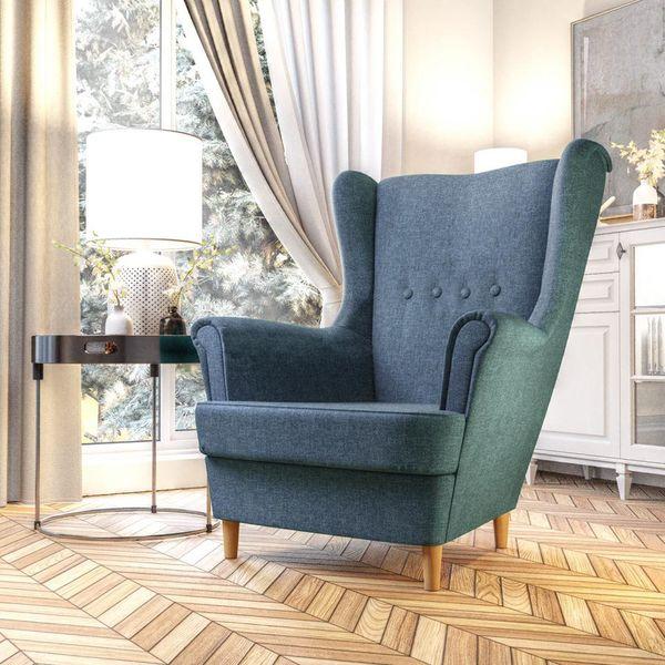 Fotel Skandynawski Uszak mocny materiał+sprężyny zdjęcie 5