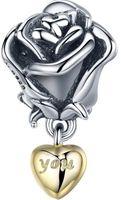 Charms Srebro - Różana Miłość
