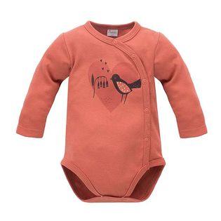 PINOKIO Body czerwone rozpinane z ptaszkiem Little Bird,