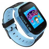 Zegarek smartwatch dla dzieci z lokalizatorem GPS KIDS SOS - niebieski zdjęcie 1
