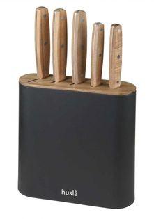 Zestaw 5 Noży W Bloku Drewnianym Husla 73956