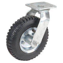 Koło transportowe skrętne na płytce 20cm do 100kg swe