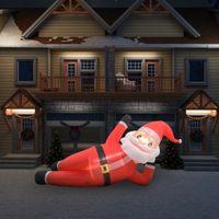 VidaXL Nadmuchiwany Święty Mikołaj z LED, IP44, czerwony, 360 cm, XXL