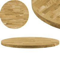 Okrągły blat do stolika z litego drewna dębowego, 44 mm, 800 mm