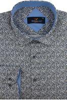 Koszula Męska Triwenti brązowa w groszki z długim rękawem w kroju SLIM FIT A501 XL 43 182/188