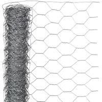 Siatka z drutu sześciokątna 0x10 m 40 mm galwanizowana stal VidaXL
